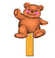Teddy Stick Puppet (Toddlers & 2s)