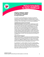 Picture schedules preschoolers - Toddlers