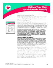 How to make a Sunday school class special needs friendly