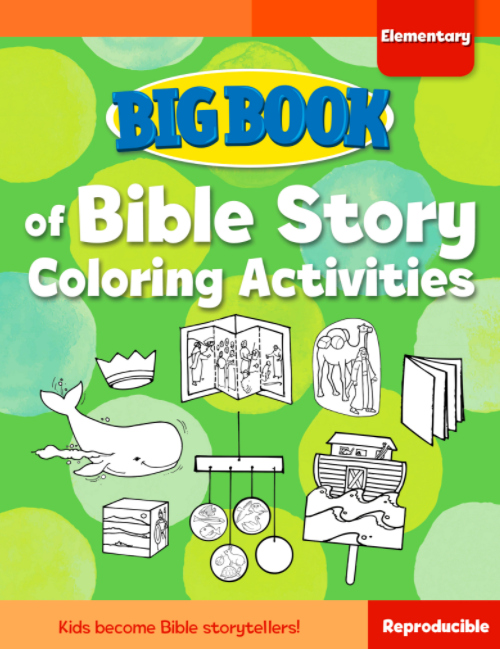 Big Book of Bible Story Coloring Activities for Elementary Kids Cover