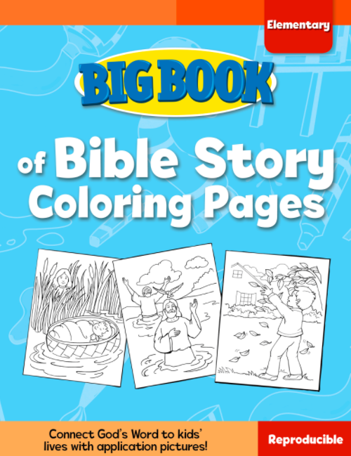 Big Book of Bible Story Coloring Pages for Elementary Kids Cover